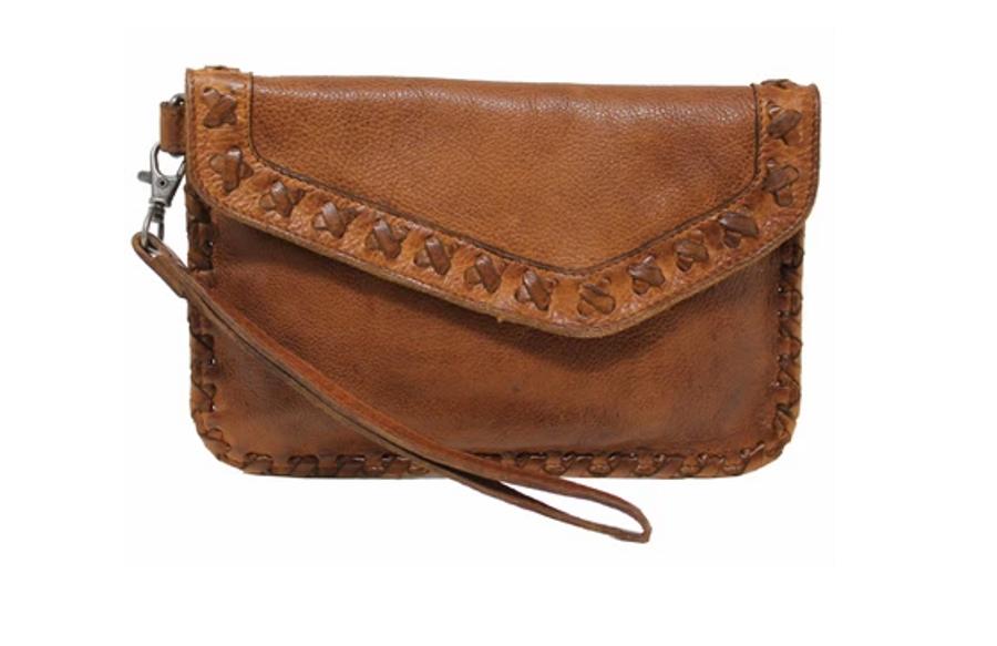 marlin 100% leather wristlet