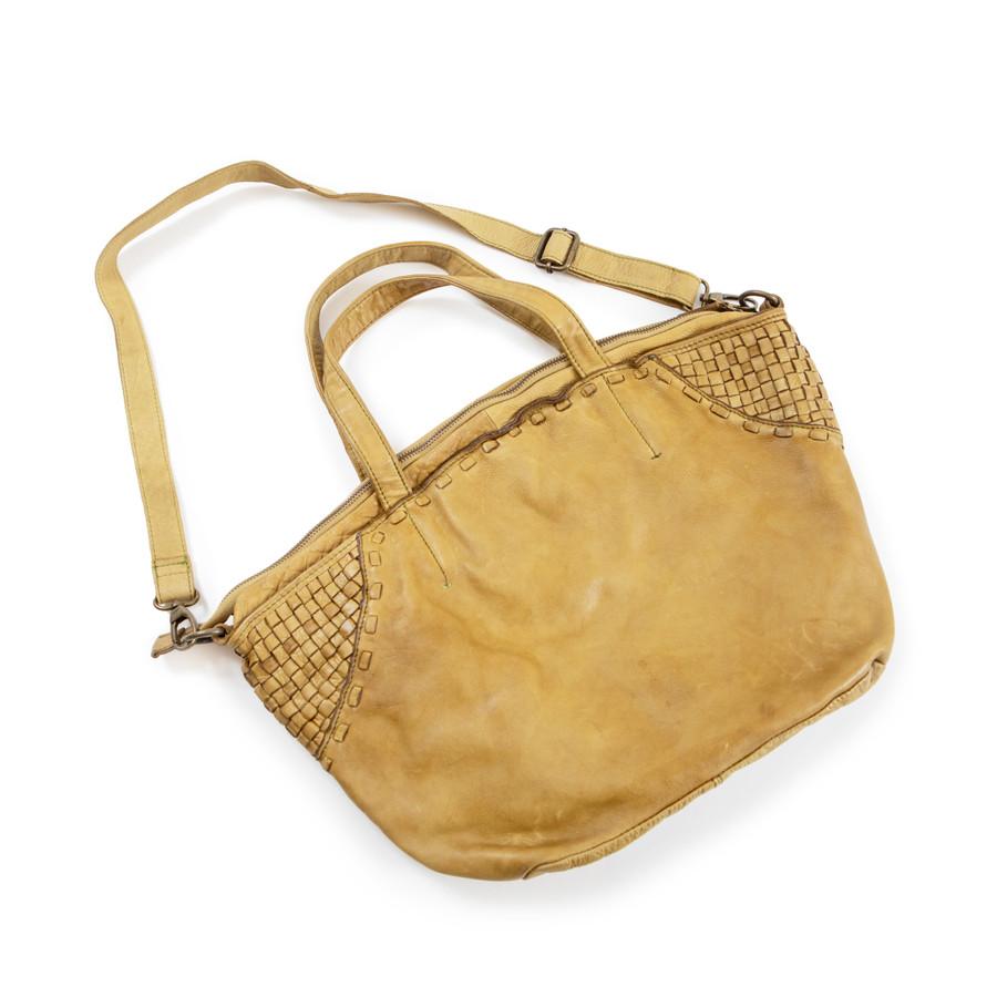olive brown leather handbag