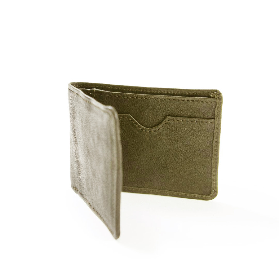 olive brown leather wallet