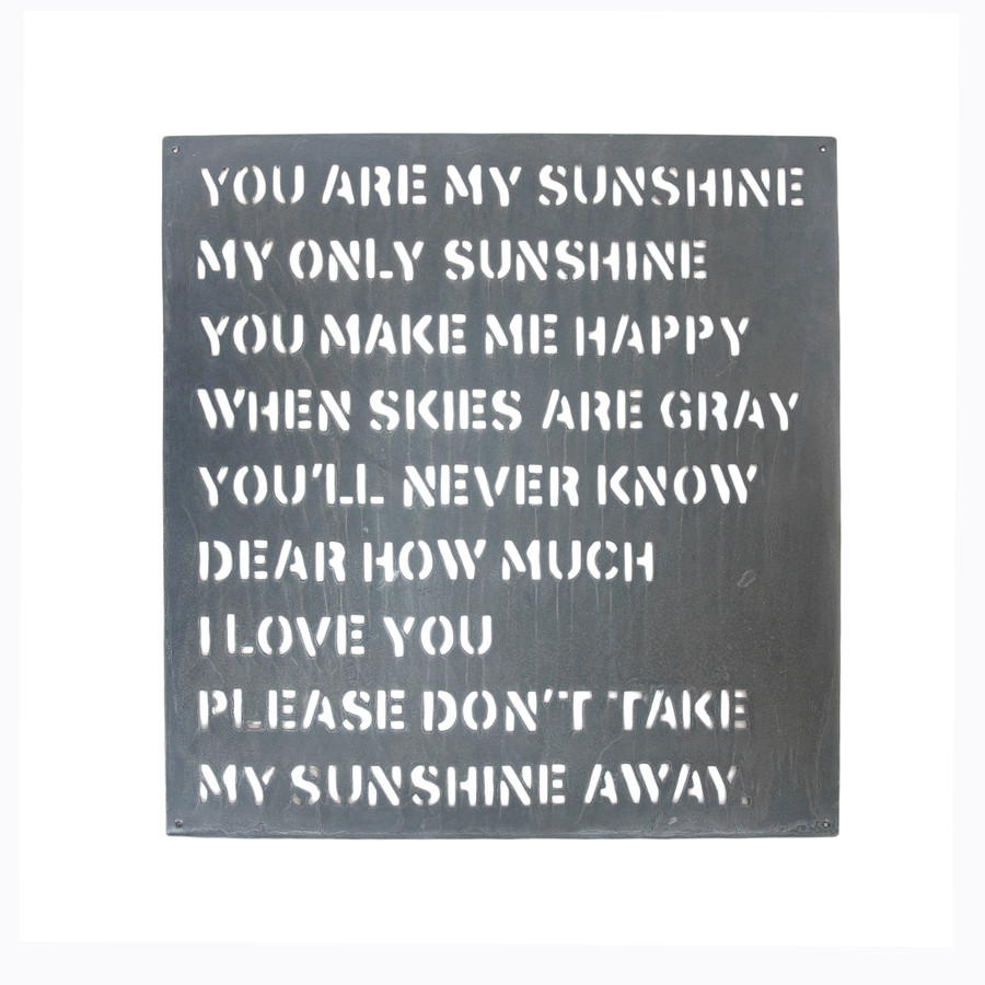 metal sign - you are my sunshine