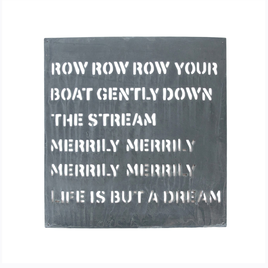 metal sign - row your boat