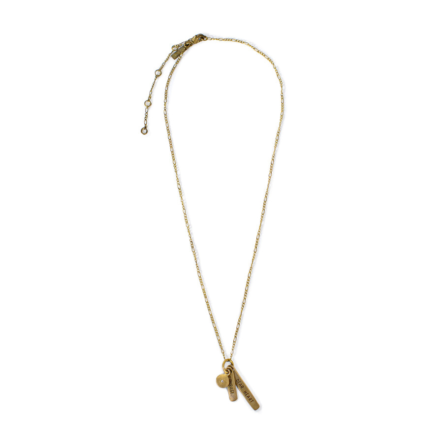 brass - courage dear heart necklace