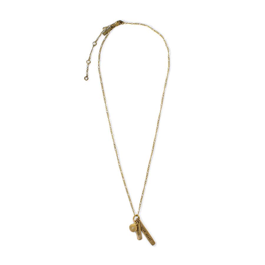 brass - courage dear heart necklace