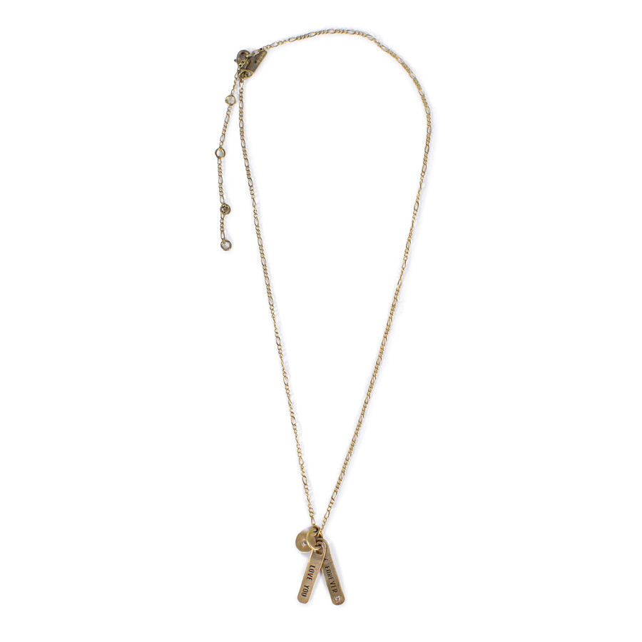 brass - love you x forever necklace
