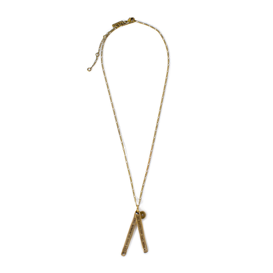 brass - be happy for this moment necklace