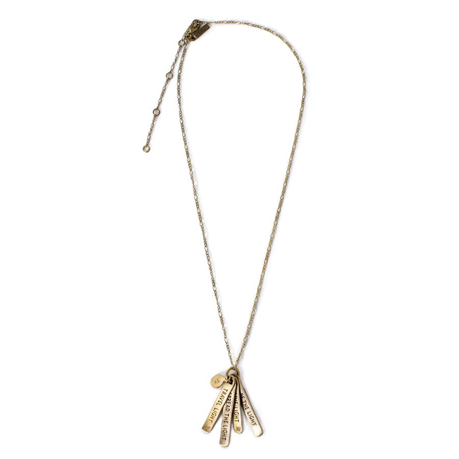 Travel Light Necklace - Brass