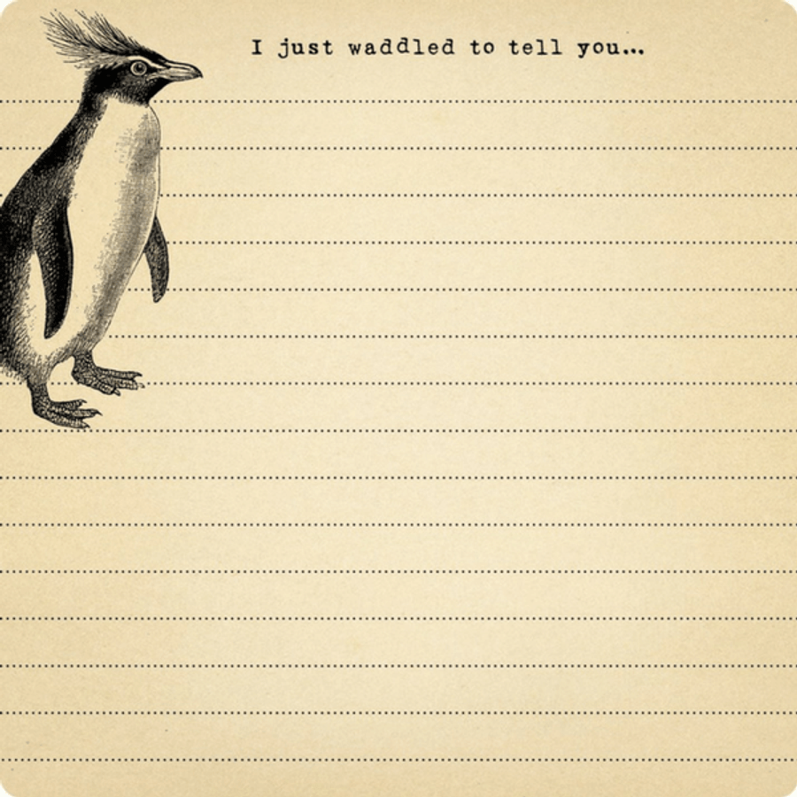 Mini Penguin Notepad