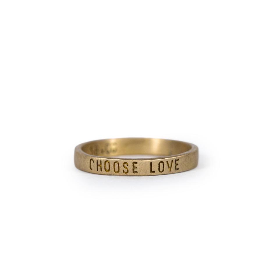 brass ring - choose love