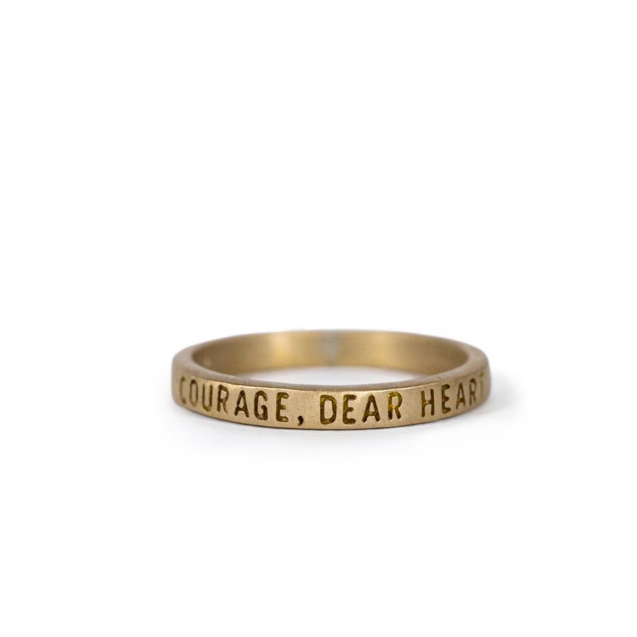 brass ring - courage, dear heart
