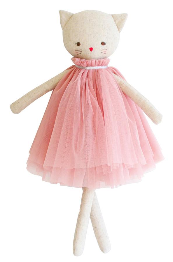 aurelie linen cat doll