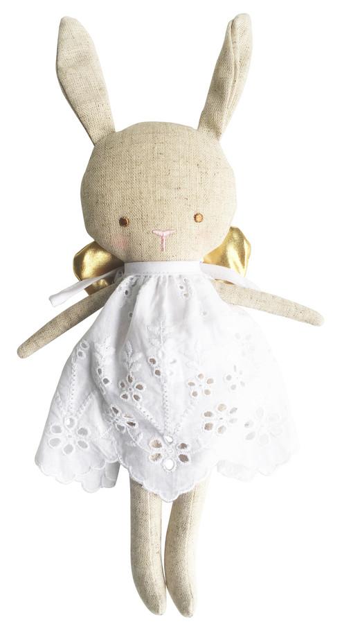 linen baby angel bunny