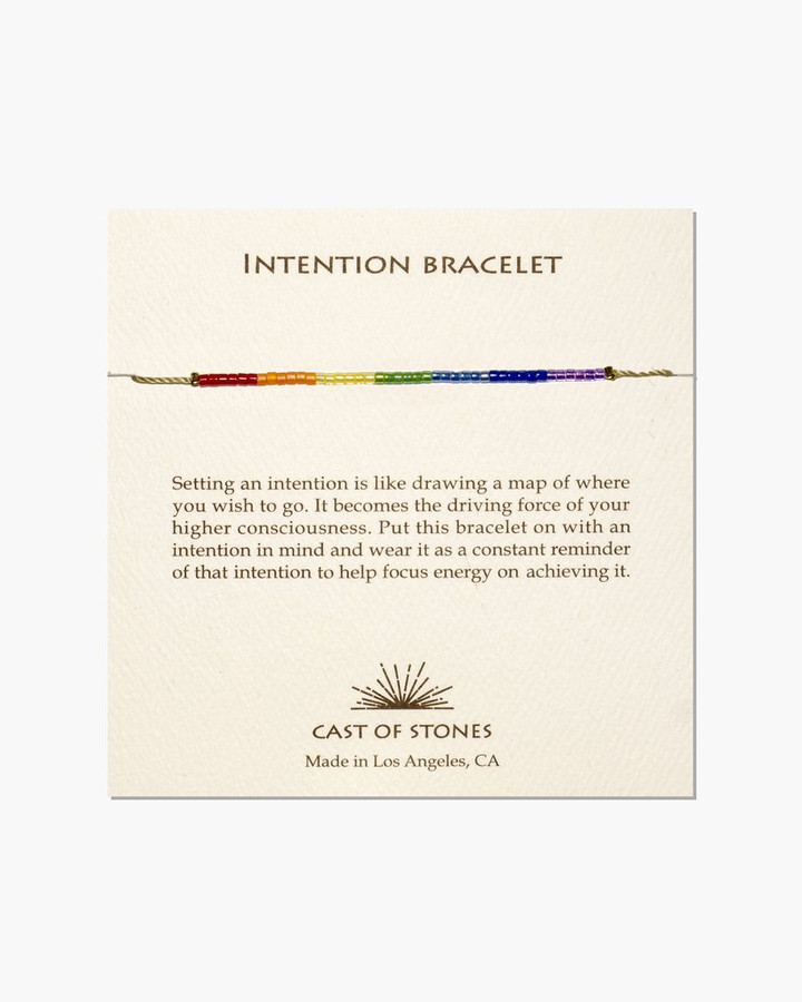 cast of stones rainbow beaded bracelet