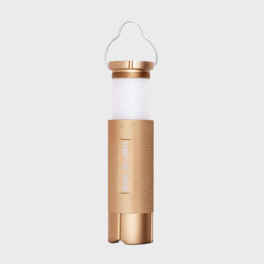 torch lantern in gold
