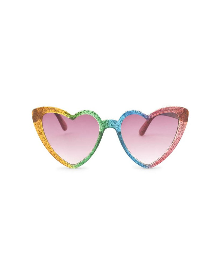 rainbow heart shaped sunglasses