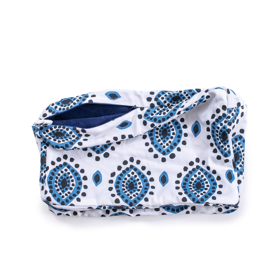 eye design terry lined pouch
