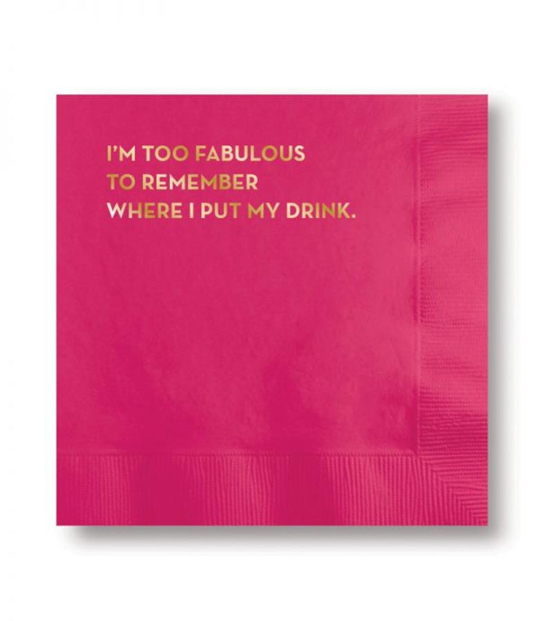 fabulous cocktail napkin