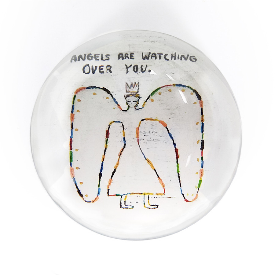 angels are watching over you paperweight