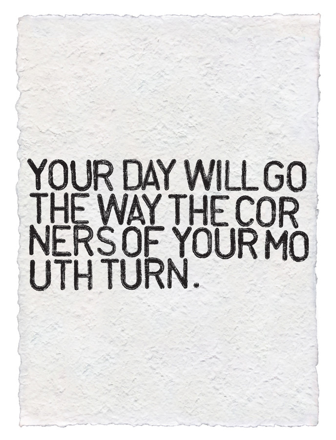 your day will go handmade paper print