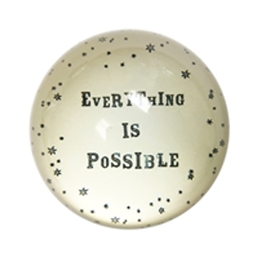 everything is possible paperweight