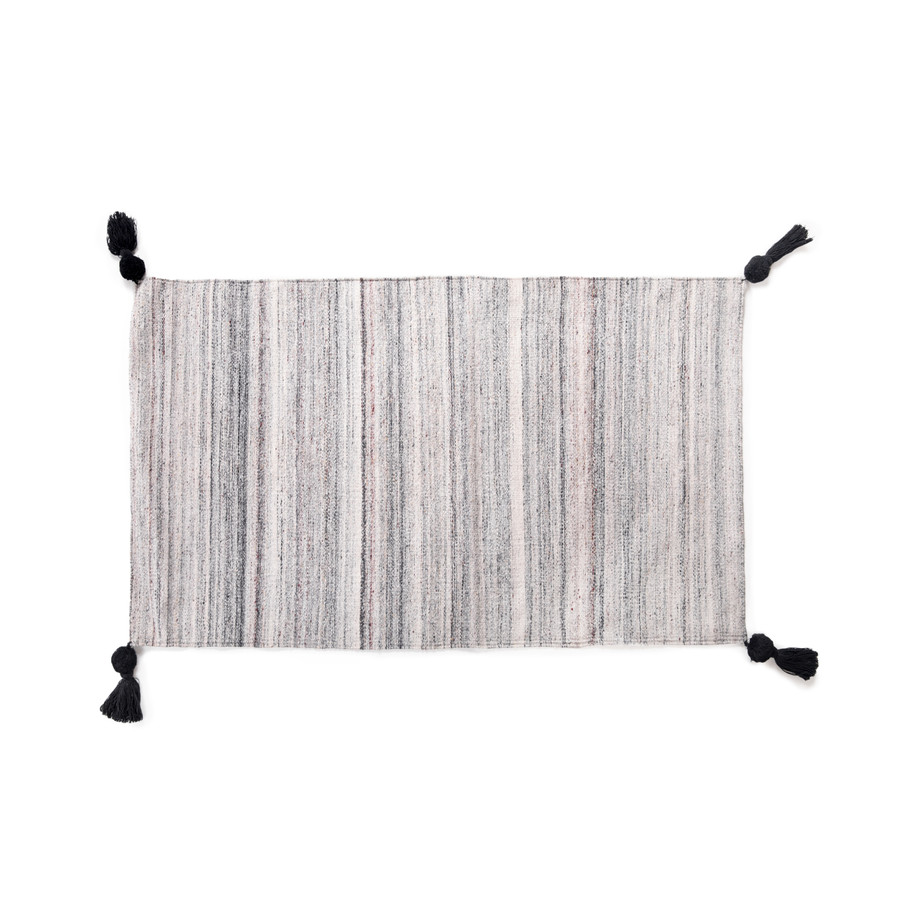 grey and white ombre rug
