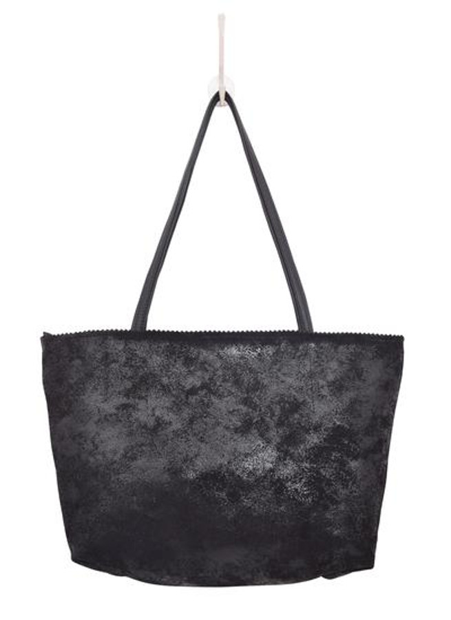 Abigail leather tote in black
