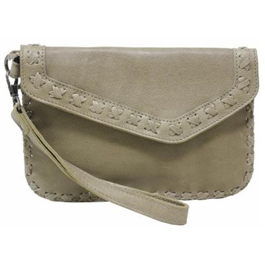 marlin leather clutch
