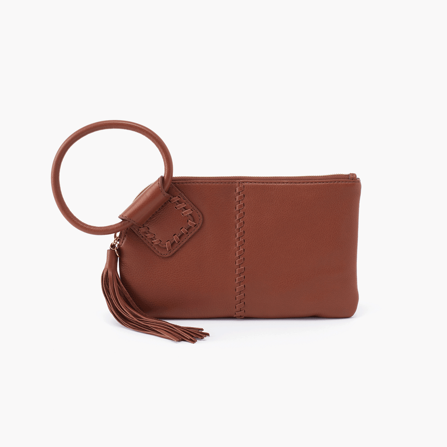 sable wristlet in velvet toffee