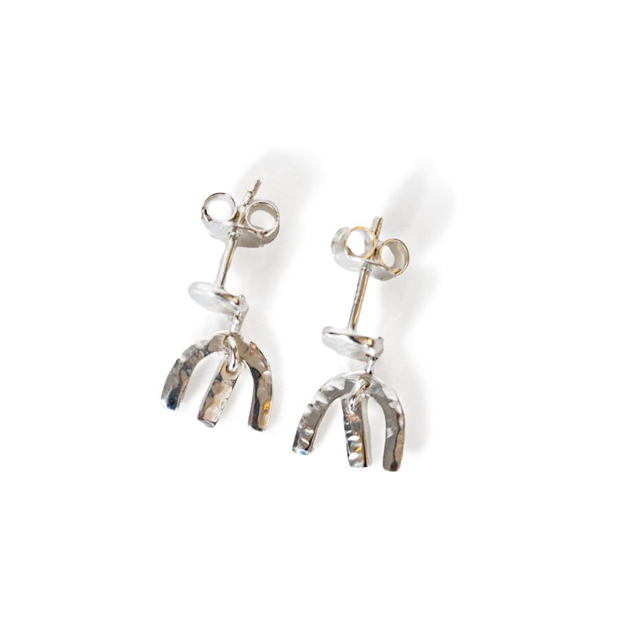 Dainty Silver Plated Dangle Earrings