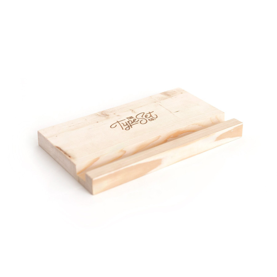 The Type Set Co wooden block easel