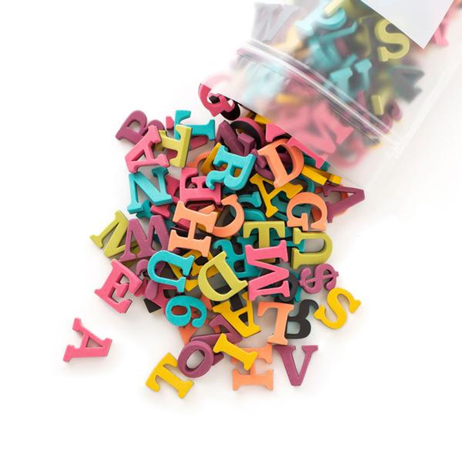 The Type Set co rainbow magnet letters