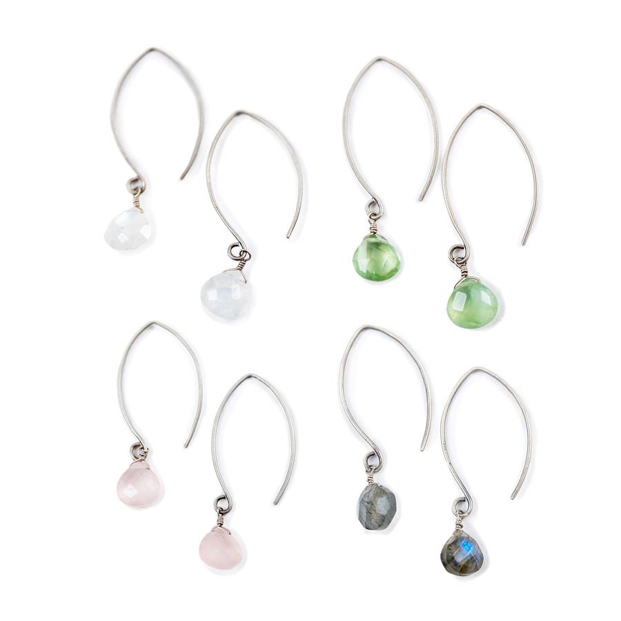 single stone drop earrings