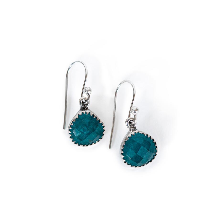 Teardrop Jade Earrings