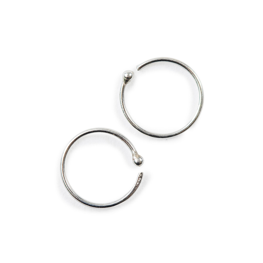 petite hoop earrings in silver
