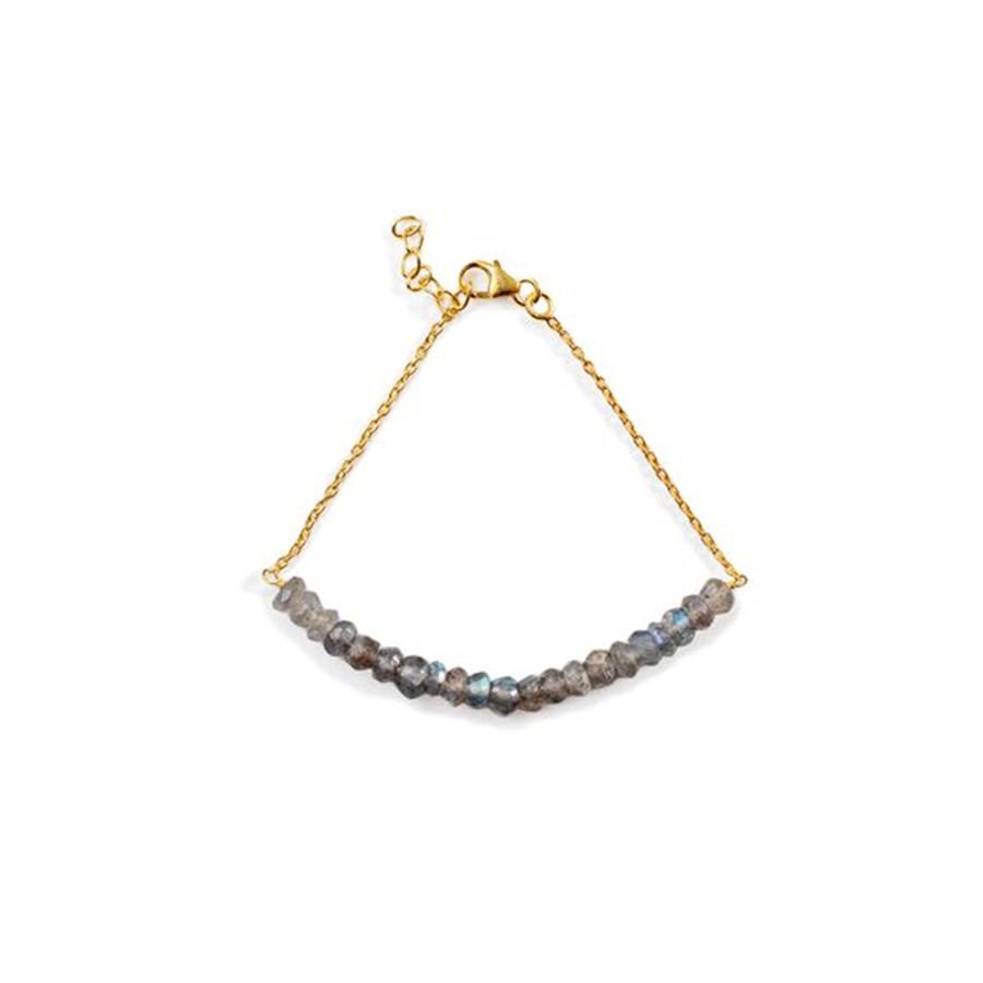 Gold Labradorite Beaded Bracelet