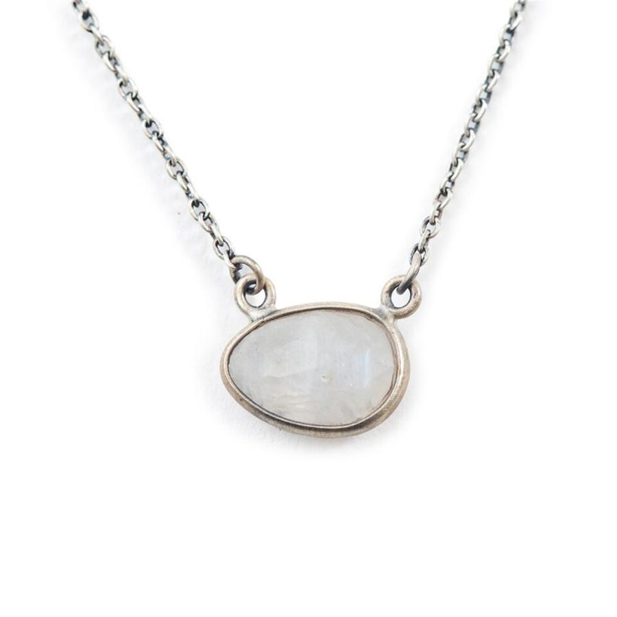 Oxidized Moonstone Necklace
