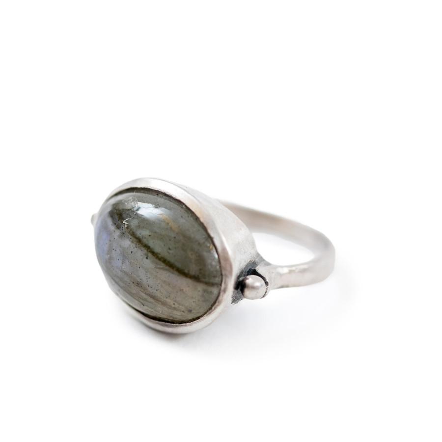 Large Labradorite Stone Ring