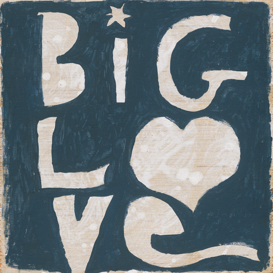 Big Love art print with gallery wrap frame