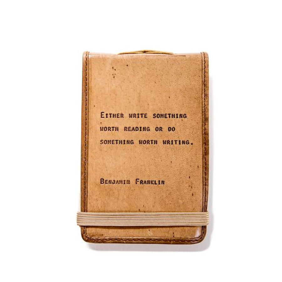 mini leather journal - benjamin franklin