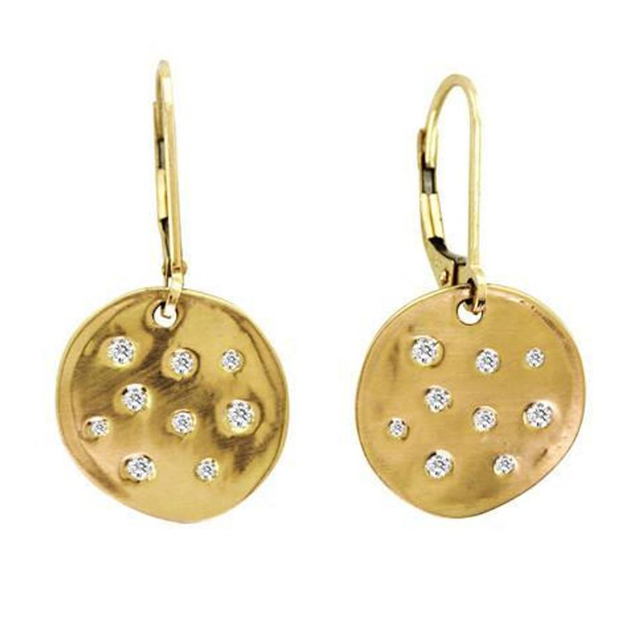 Scattered disk diamond earrings