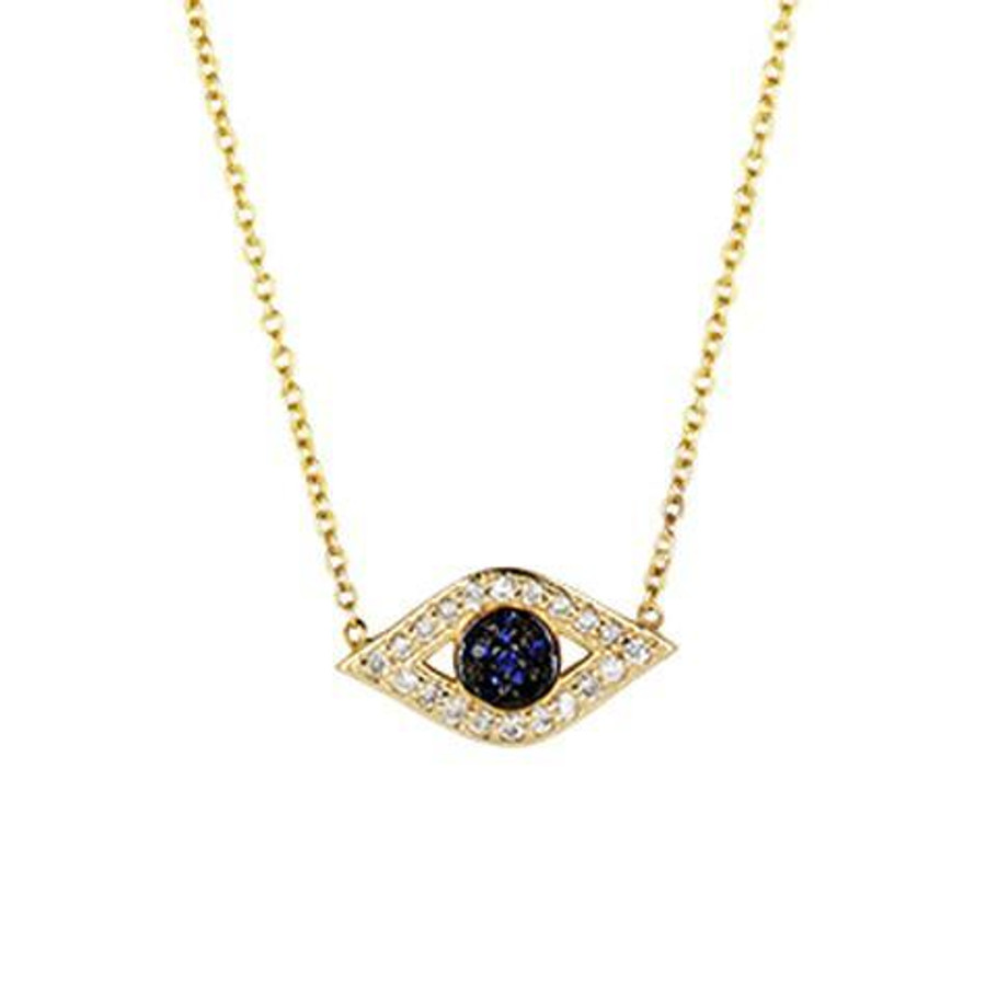 evil eye diamond and sapphire necklace.