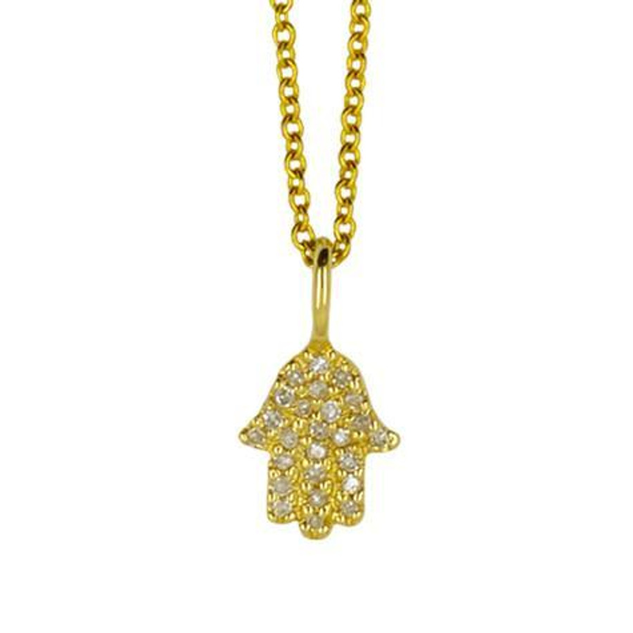 14k diamond yellow gold necklace