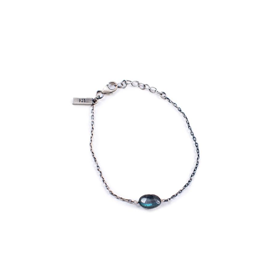 Labradorite Stone Pendant Bracelet