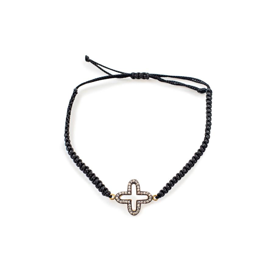 White Zircon Cross Bracelet