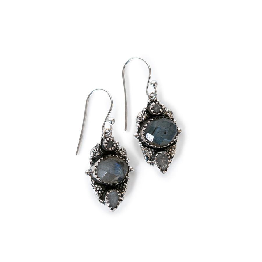 Design Drop Earring in Labradorite