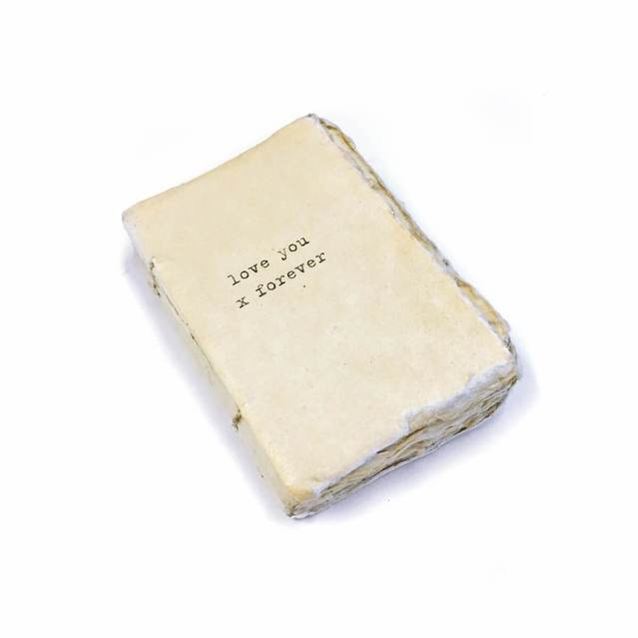 mini deckle edge notebook - love you x forever