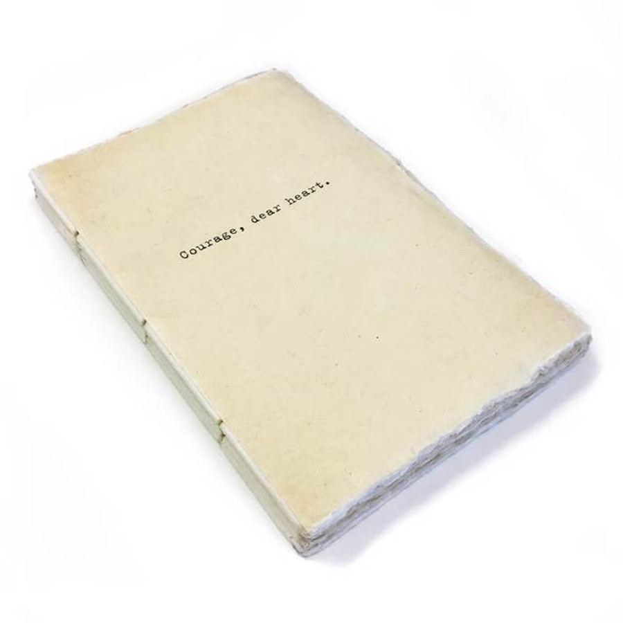 deckle edge notebook - courage dear heart