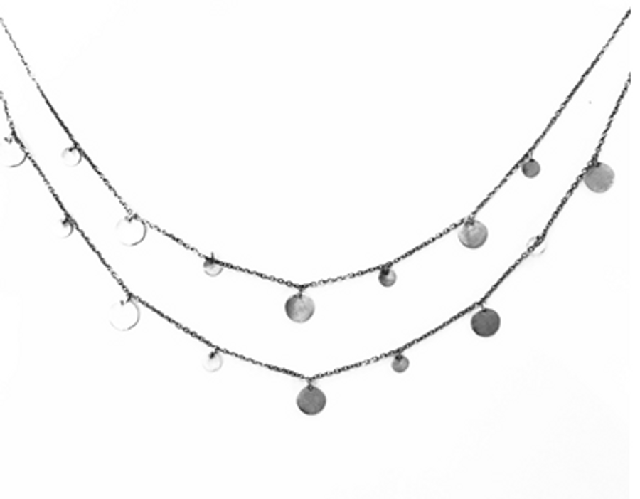 Oxidized Necklace in Moonstone Single Stone