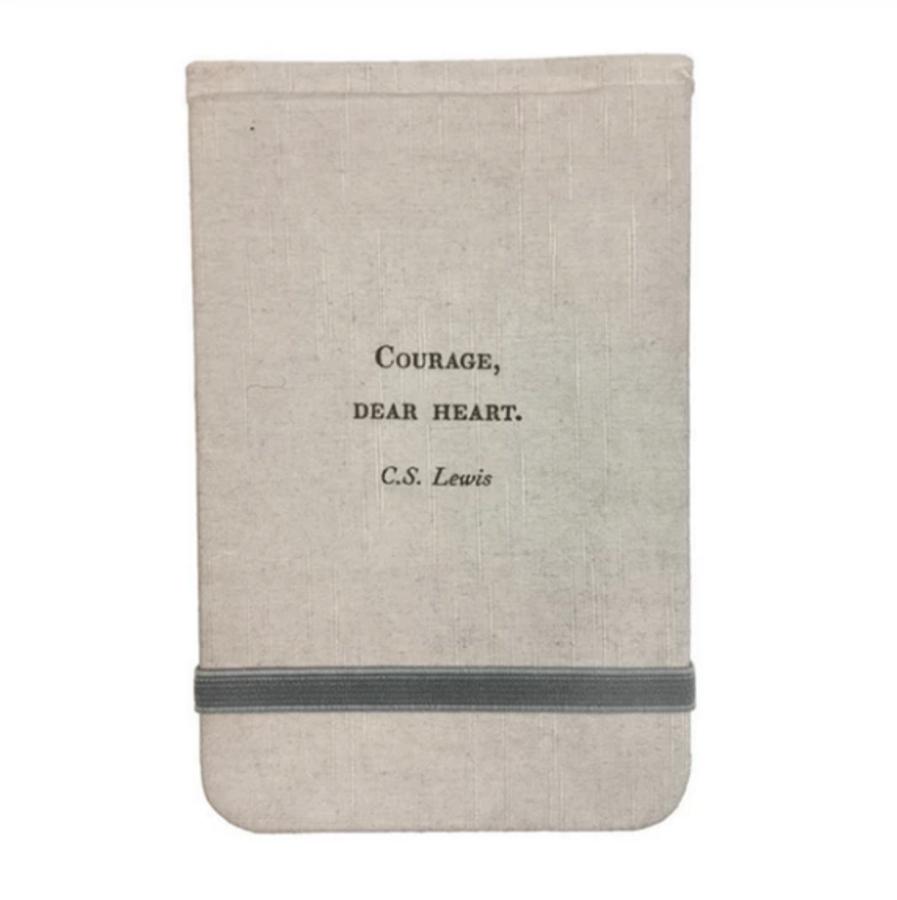 fabric notebook - courage dear heart