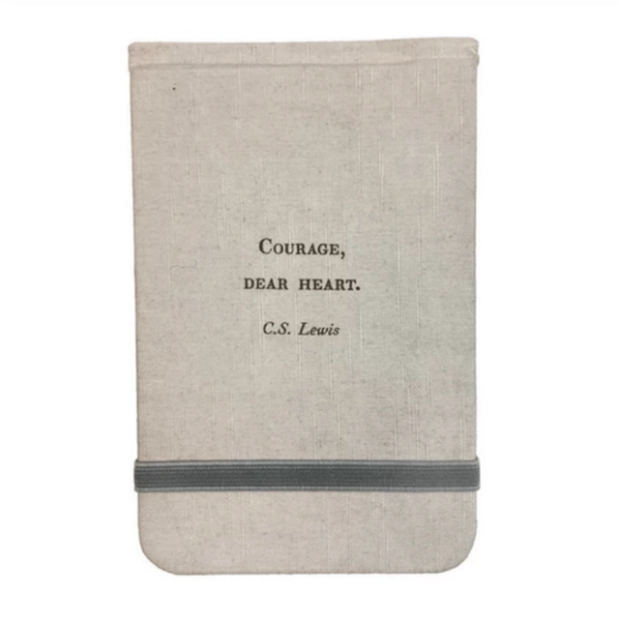 fabric notebook - courage dear heart