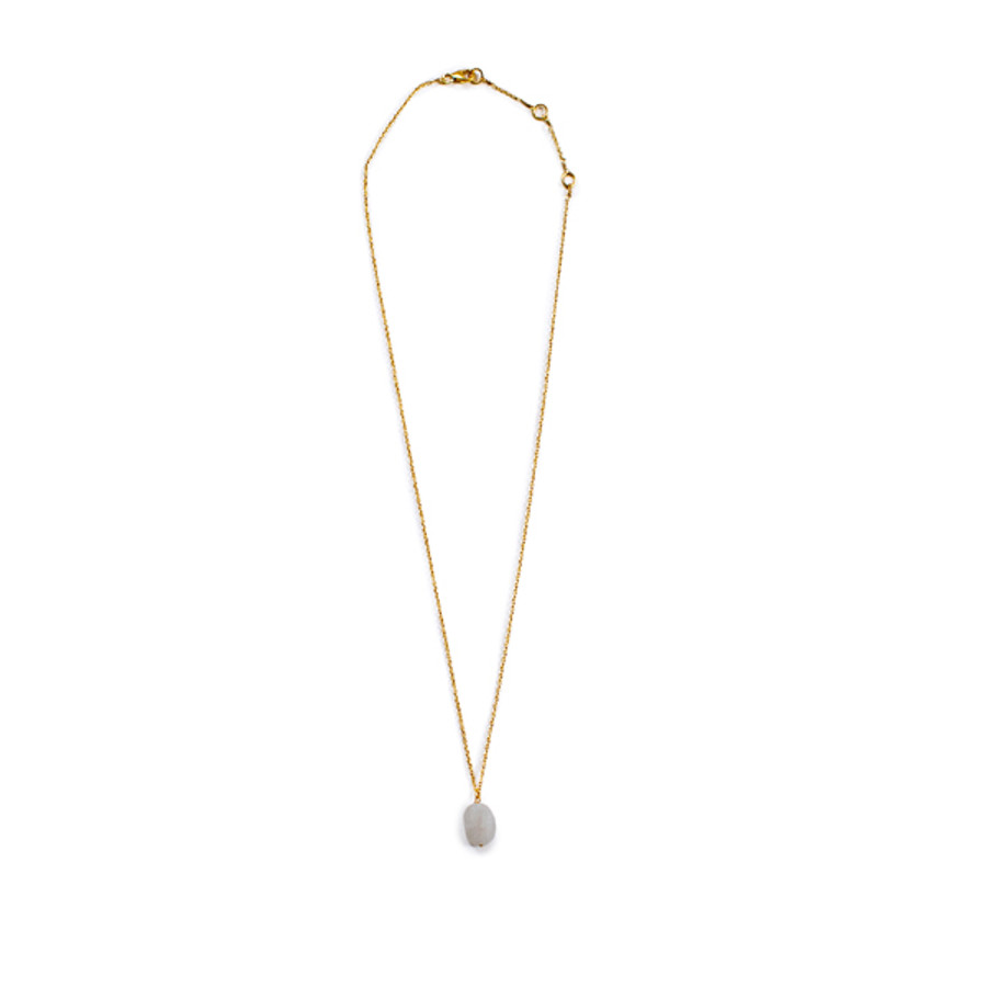 Rough Moonstone Necklace in Gold - 16 inches